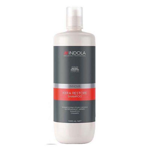 Indola Kera Restore Shampoo reinigt sanft und stärkt von extrem geschädigtem und brüchigem Haar – ohne es zu beschweren