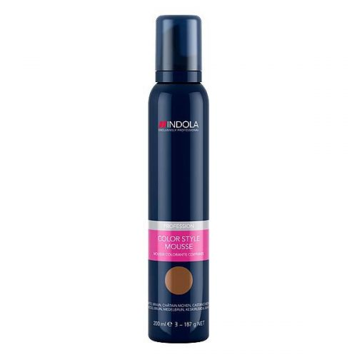 Indola Color Style Mousse Mittelbraun 200ml