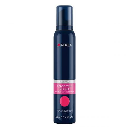 coiffeurartikel Indola Color Style Mousse Rot
