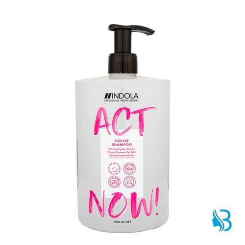 Indola Act Now Color Shampoo reinigt sanft coloriertes Haar und verleiht schönen Glanz. Versiegelt die Farbpigmente in der inneren Haarfaser