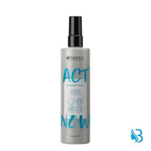 ndola Act Now Moisture Spray die zwei-Phasen-Formel verbessert die Kämmbarkeit und spendet Feuchtigkeit. Verleiht Geschmeidigkeit und Glanz
