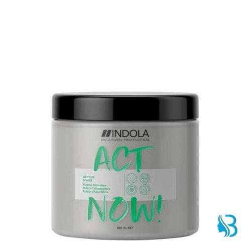 Indola Act Now Repair Maskversiegelt die Kutikula und regeneriert die Haarstruktur