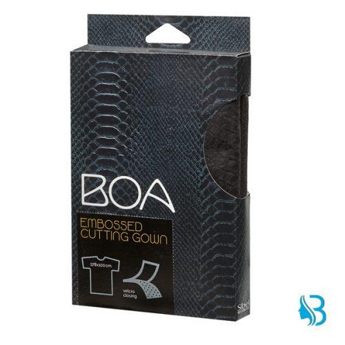 Umhang Boa schwarz mit Aermel Haarschneideumhang mit geprägtem Muster aus weichem, bügelfreiem Polyestergewebe