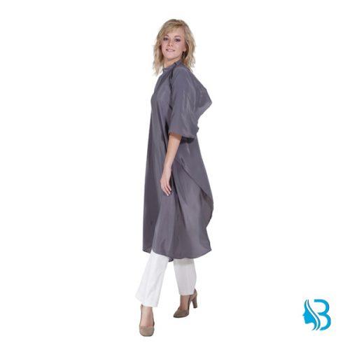 Umhang Flexi grau Schneideumhang aus weichem, bügelfreiem Polyestergewebe